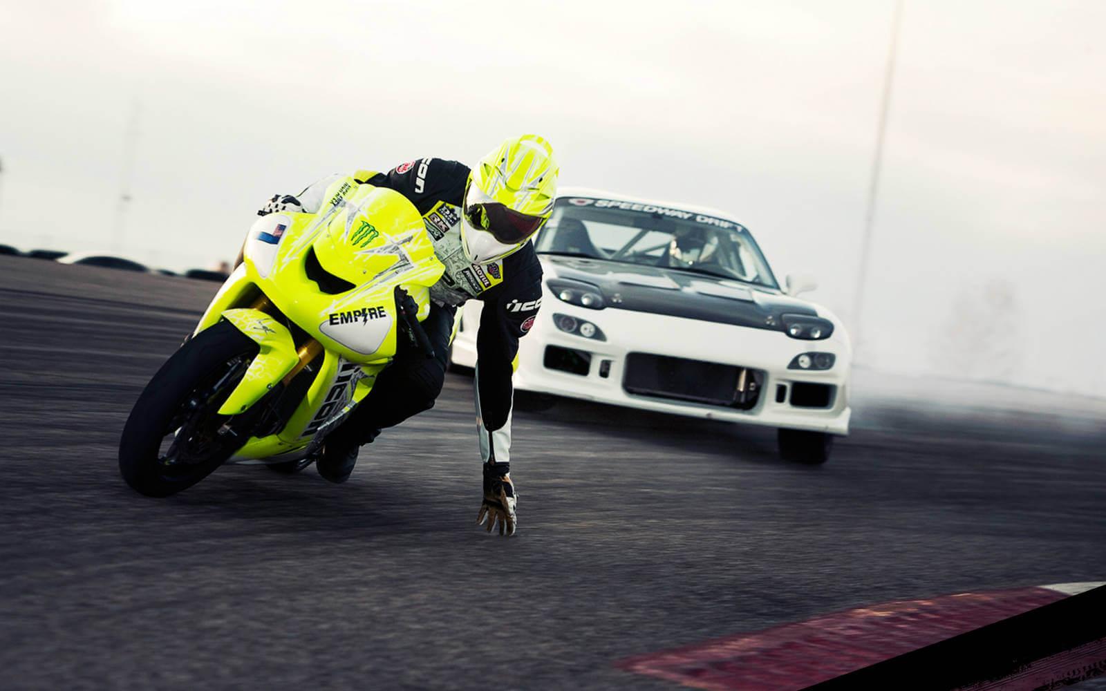 motorrijders rijden beter auto