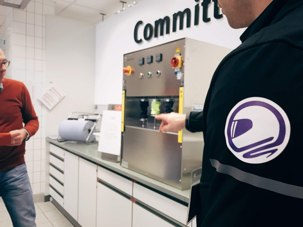 GORE-TEX lab rondleiding in test centrum