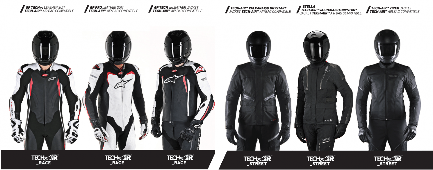 alpinestars tech air race en street vest compatibel
