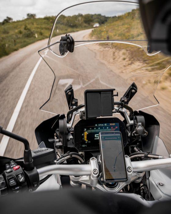 motor, navigatie, telefoonhouder, motorrijden