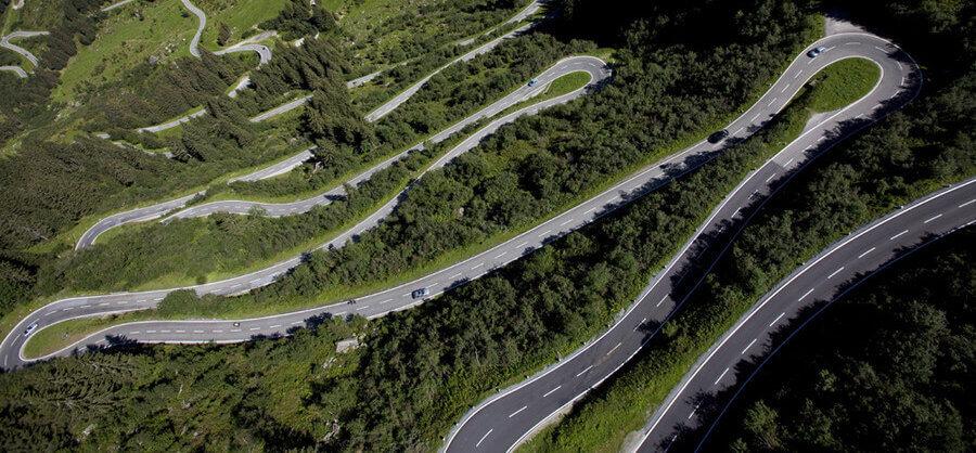 De Silvretta in Oostenrijk motorroutes