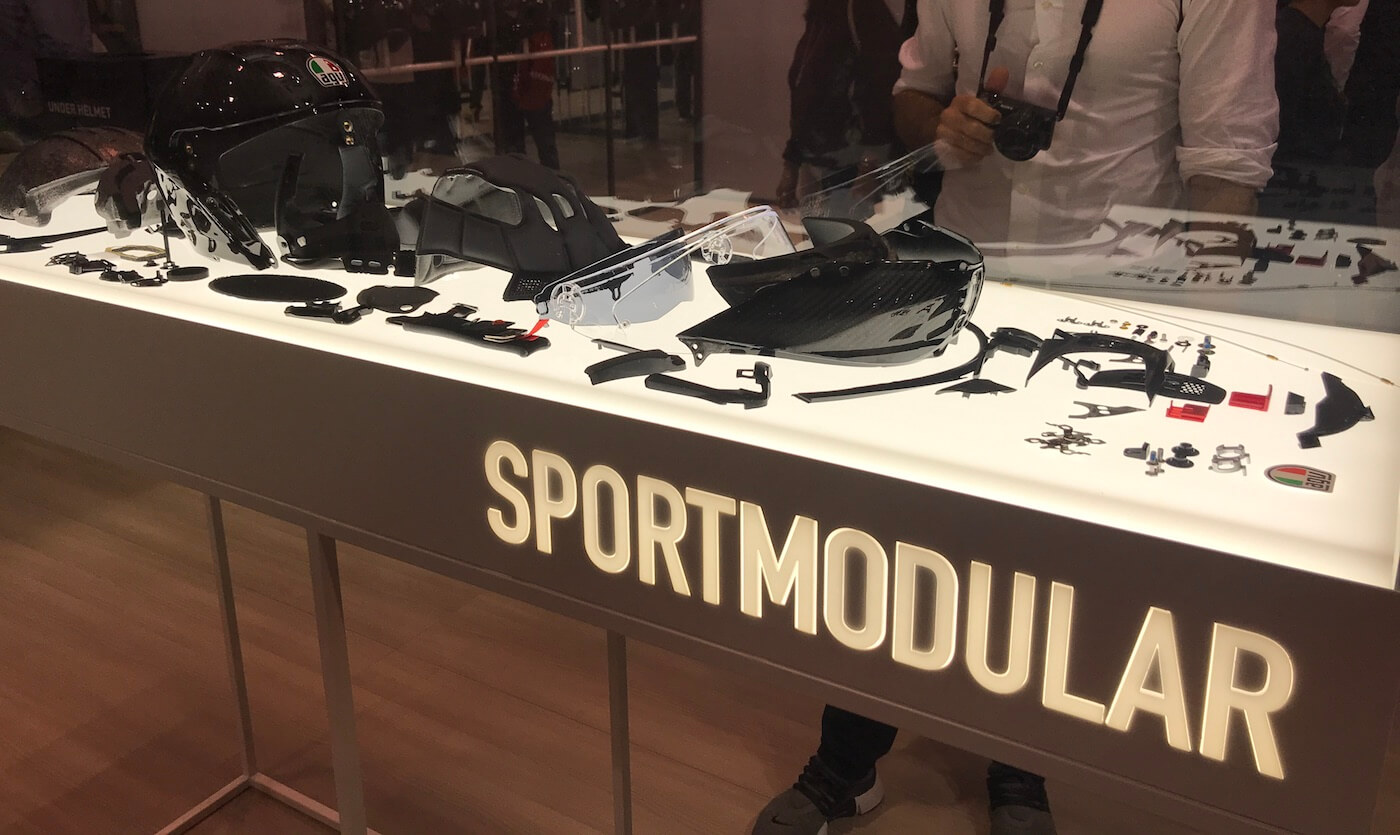 Onderdelen van de AGV Sportmodular