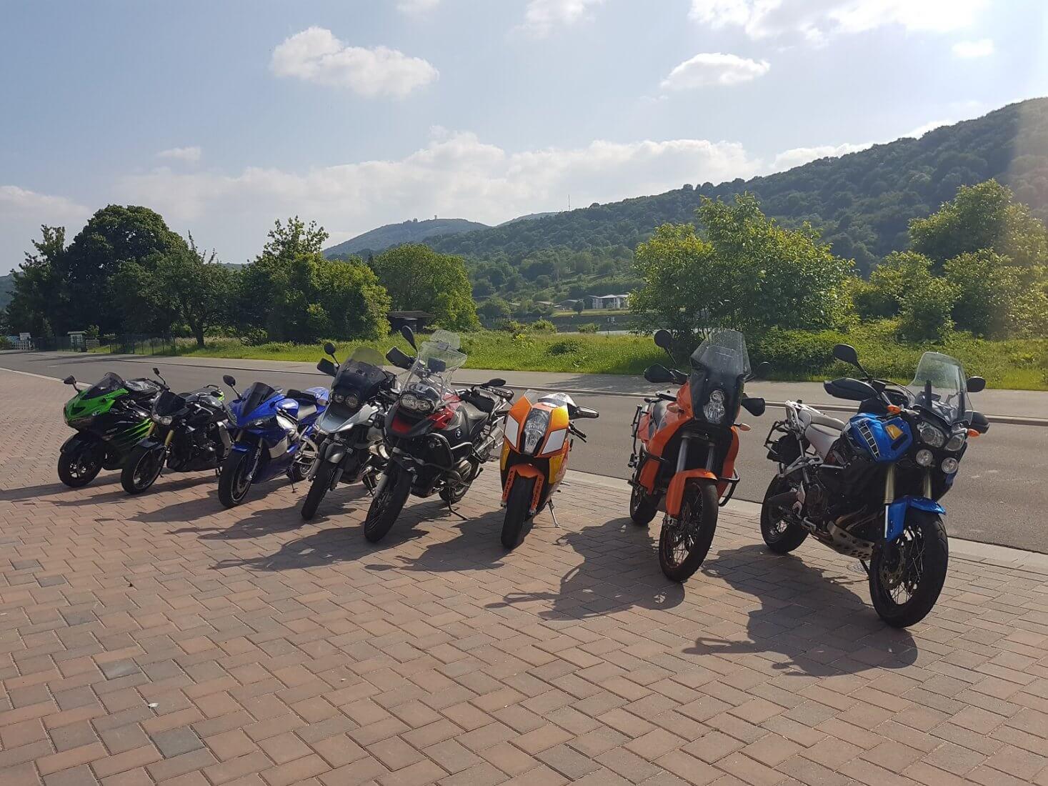 Weekend weg motorrijden