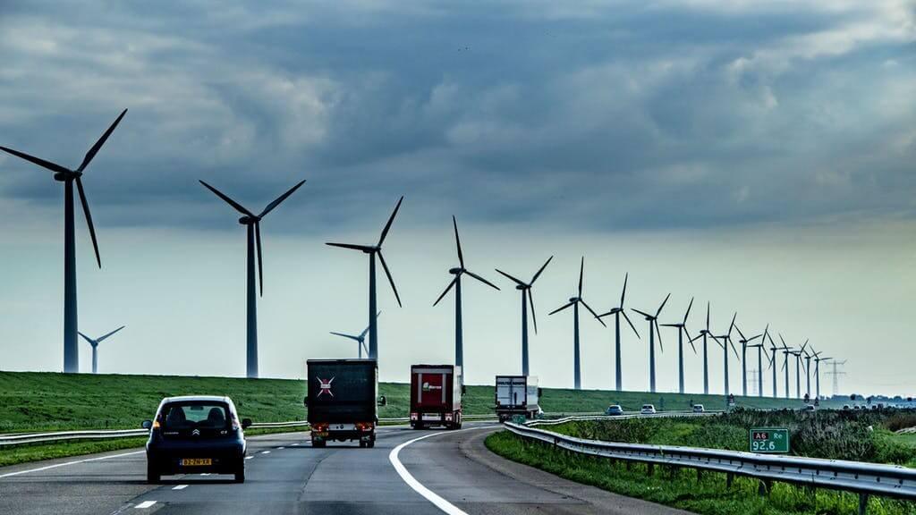 motorrijden met harde wind