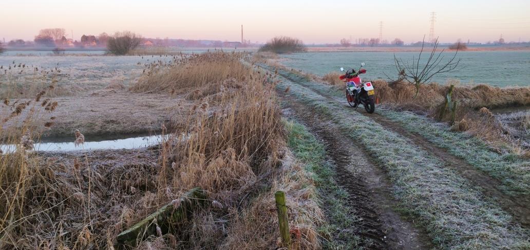 motorrijden in de winter