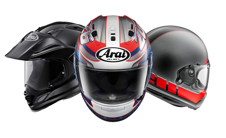 Arai helmen line-up
